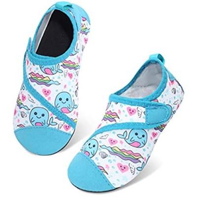 JIASUQI Beach Swimming Pool Athletic Water Shoes Aqua Water Socks for Kids Boys Girls