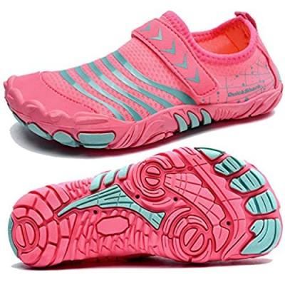 Quickshark Kids Water Shoes Boys Girls Barefoot Aqua Socks Lightweight Quick Dry Sandals Slip On Walking Sneakers for Beach Pool Swim (Little Kid/Big Kid)