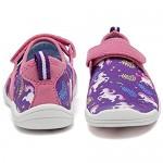 WALUCAN Boys & Girls Water Shoes Lightweight Comfort Sole Easy Walking Athletic Slip on Aqua Sock(Toddler/Little Kid/Big Kid)