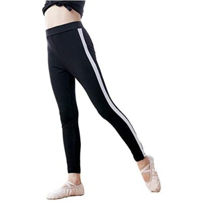 Cuulrite Kids Active Leggings Cotton Dance Athletic Pants  Black Running Workout Yoga Trousers