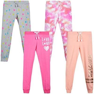 Love Republic Girls' Sweatpants - Active Warm-Up Track Fleece Jogger Pants (4 Pack)