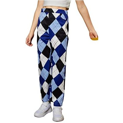 Romwe Girl's Sweatpants Paperbag Waist Athletic Jogger Pants Lounge Pants with Pocket