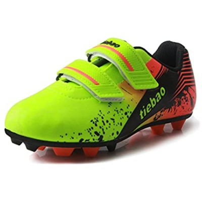 T&B Kids' Soccer Cleats Firm Ground Hook-and-Loop Football Boots Outdoor Sports(Little Kid/Big Kid) No.76660A