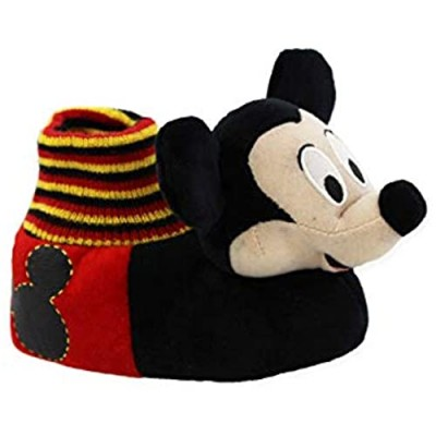 Disney Mickey Mouse Toddler Boys Plush 3D Mickey Head Sock Top Slippers