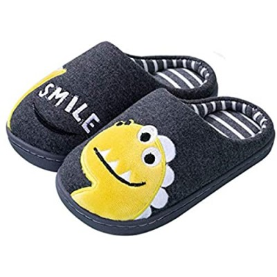 Kids Dinosaur Slippers Girls Boys Slippers Memory Foam Comfy House Slippers Bedroom Home Slippers Winter Warm Indoor Shoes