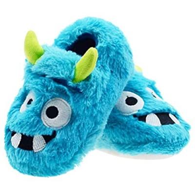 LA PLAGE Boys Slippers Monster for Kid Toddler Boys House Shoes Bedroom Slippers