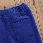 Seyurigaoka Toddler Baby Girl Flare Pants Bell Bottom Jeans Ripped Jeans Black Ruffle Denim Jeans for Little Kid Girls