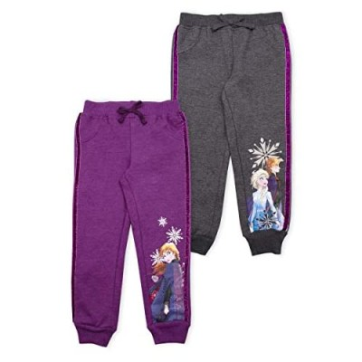 Disney 2-Pack Frozen II Joggers Pants  Elsa Joggers for Girls  Kids  and Toddlers