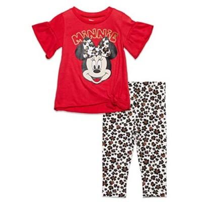 Disney Minnie Mouse Toddler Girls Long Sleeve Ruffle Tunic Shirt & Legging Set