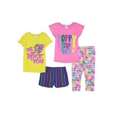 DreamWorks Trolls Poppy 4 Piece Mix n' Match Top Shorts & Legging Set