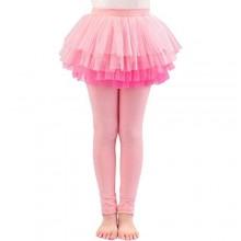 BOOPH Little Girls Footless Leggings with Ruffle Tutu Skirts Kids Tights Pants