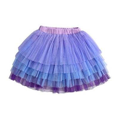 DXTON Girls Rainbow Flower Tulle Skirt Toddler Tutu Girls Clothes