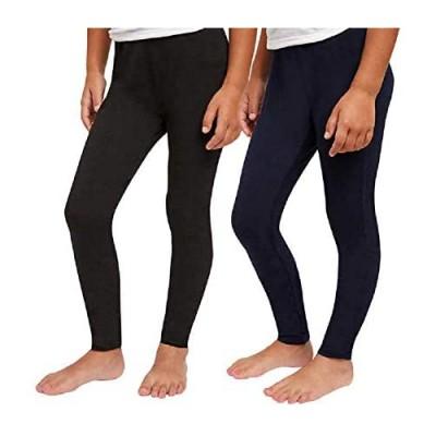 Splendid Girls' Tapered Legs Elastic Waistband Solid Legging (2 Pack)