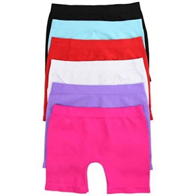ToBeInStyle Girl's Pack of 6 Layering Seamless Shorts Tights for Under Skirts