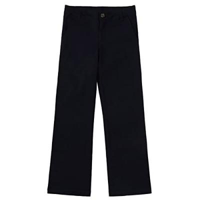 Bienzoe Girl's School Uniforms Cotton Stretchy Twill Adjust Waist Pants