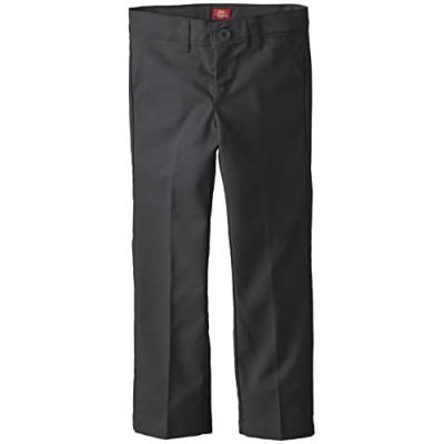 Dickies Girls' Slim Stretch Flat Front Pant