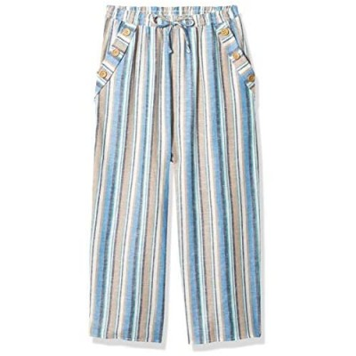 Speechless Girls' Pull-on Cropped Pants