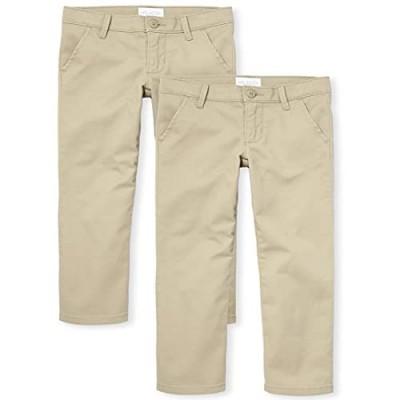 The Children's Place Girls' Uniform Skinny Chino Pants 2-pack