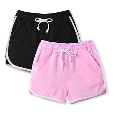 Arshiner Girls' 1 Pack/2-Pack Shorts Solid Active Dolphin Short for 5-12 Years
