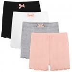 BOOPH Girls Dance Bike Short 4 Pack Safety Underskirt Undershorts for Sport Play