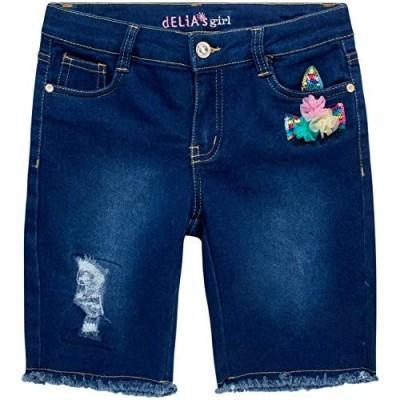 dELiAs Girls' Shorts - Soft Stretch Denim Bermuda Jeans Shorts with Sequins
