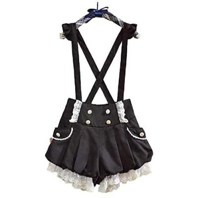 GK-O Kawaii Girls Lolita Suspender Lace Pumpkin Shorts Cute Lantern Pants