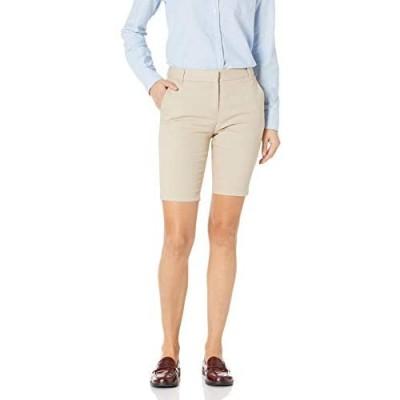 IZOD Girls' Uniform Skinny Bermuda Stretch Twill Short