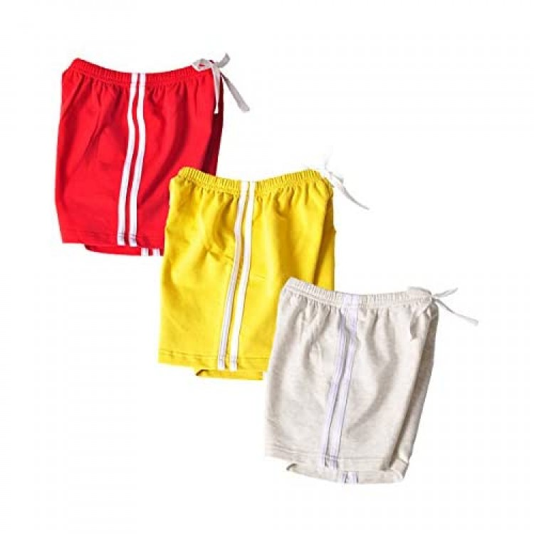 Little Girls Workout Athletic Shorts 3 Pack Cotton Solid Dolphin Shorts Summer Beach Shorts 2-10 Years