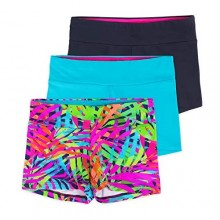 Lucky & Me | Layla Girls Dance Shorts | Gymnastics & Dancewear | 3-Pack | Tagless for Comfort and Premium Stretch Performance