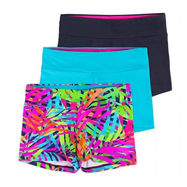 Lucky & Me   Layla Girls Dance Shorts   Gymnastics & Dancewear   3-Pack   Tagless for Comfort and Premium Stretch Performance