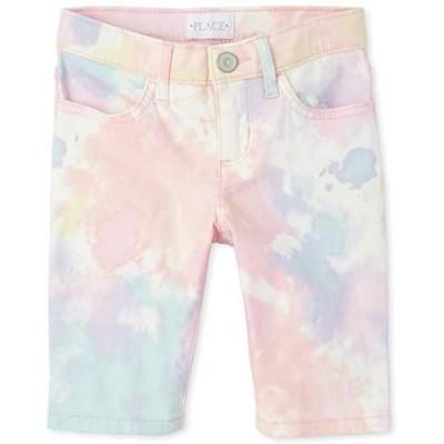 The Children's Place Girls' Tie Dye Denim Skimmer Shorts